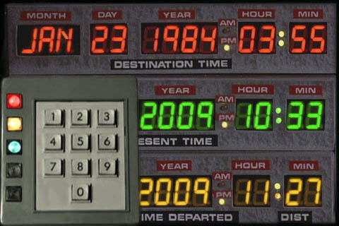 Movie App Of The Day Back To The Future Time Circuit